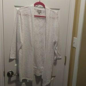 Lace back cardigan